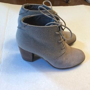 Toms suede heeled booties Toms lunata laced boot 8